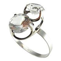 Rock Crystal Jewelry Modernist Bracelet Modernist Jewelry Mid Century Jewelry 1970s Jewelry Statement Jewelry Geometric Bracelet Space Age Bridal Wedding Cocktail Jewelry Minimalist