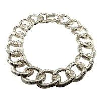 Curb Chain Necklace Statement Necklace 80s Jewelry 1980s Necklace Mexican Silver Necklace Mexican Silver Jewelry Luxury Jewelry Heirloom Chunky Artisan Handmade