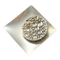 Geometric Brooch Geometric Jewelry Modernist Brooch Modernist Jewelry Space Jewelry Star Trek Jewelry 1960s Jewelry Mid Century Jewelry