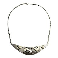 Modernist Necklace Geometric Necklace Mid Century Necklace Artisan Necklace Space Necklace Star Trek Necklace Geometric Necklace Pendant 925 1960s 1970s