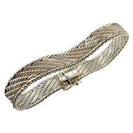 Mesh Bracelet Mesh Jewelry Woven Jewelry Woven Bracelet Minimalist Jewelry Minimalist Bracelet Artisan Jewelry Artisan Bracelet 1970s 1960s Modernist Chevron Mid Century Handmade Signed Sexy Jewelry Vintage