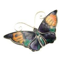 Butterfly Brooch Enamel Jewelry Scandinavian Jewelry Mid Century Jewelry Sterling Silver Brooch Designer Jewelry Dainty Jewelry Delicate Insect Jewelry 1950s Brooch