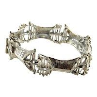 Brutalist Bracelet Brutalist Jewelry 1970s Jewelry Modernist Bracelet Unisex Bracelet Rustic Bracelet Mid Century Jewelry 1960s Jewelry 835