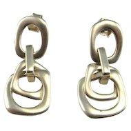 Love Knot Earrings Love Knot Jewelry Sterling Silver Drop Earrings Dangle Earrings Modernist Earrings Space Earrings Star Trek Earrings 925 Romantic Vintage Wedding Bridal Minimalist Intersecting Geometric