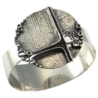 Sterling Silver Unisex Cuff Bracelet Sterling Modernist Bracelet Space Bracelet Star Trek Bracelet Geometric Bracelet Unisex Jewelry 925 1950s 1960s 1970s Minimalist Boho Bohemian Startrek Space Age