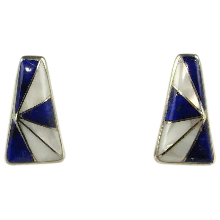 shoreline sterling rect earrings product silver lazuli lapis ear