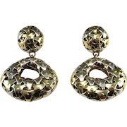 Huge Chandelier Earrings Large Drop Earrings Big Dangle Earrings 1980s Earrings 80s Jewelry Statement Earrings Sterling Silver 925 Chunky Retro Massive Cocktail Evening