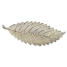 Lace Filigree Leaf Pin Brooch Sterling Silver Leaf Jewelry Fine Filigree Pin Brooch Art Deco Brooch Pin Jewelry 1920s Jewelry Artisan 925 Gatsby  Downton Abbey