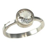 Rock Crystal Bracelet Jewelry Bangle 925 Sterling Silver Rock Crystal Quartz Bangle Minimalist Bracelet Geometric Bracelet Modernist Jewelry Unisex Jewelry Statement Space Abstract