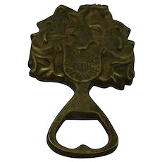 Vintage German Brass Bottle Opener Schneider Lech