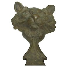 Vintage German Brass Bottle Opener Cat Head