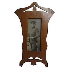 Vintage Wood Picture Frame WW1 Time