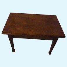 Wood Table Antique German Dollhouse