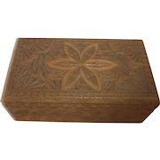 Vintage German Folk Tramp Art Wood Box