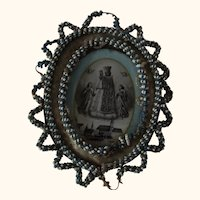 Monastery Work Picture with Frame Our Lady of Altotting German
