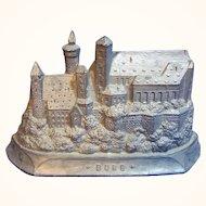 Vintage German Pewter Souvenir Building Nuremberg Castle