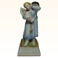 Antique German Porcelain Women with Baby