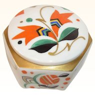 Hand Painted Art Deco Porcelain Box Baensch Lettin German