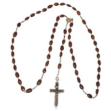 Vintage German Rosary Cross with Relic of Holy Brother Konrad of Altoetting