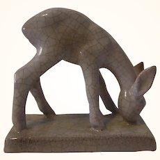 Karlsruhe Majolika Ceramic Deer By Hummel Koenig 1956 to 63