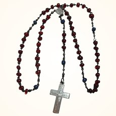 Vintage Small Child or Doll Rosary Glass Beads