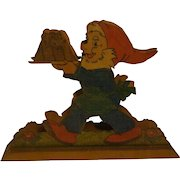 Vintage German Napkin Holder Fretwork Gnome