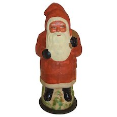 Vintage German Cardboard Santa Claus Candy Container