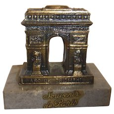 Vintage France Paris Souvenir Building Arc De Triomphe