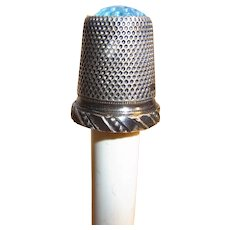 Vintage German 800 Silver Thimble