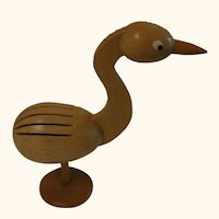 Vintage German Erzgebirge Bird Business Card Holder