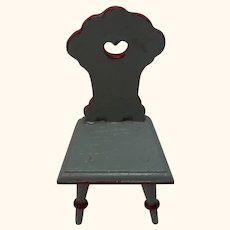 Antique German Dollhouse Chair