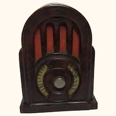 Vintage German Dollhouse Radio Sharpener