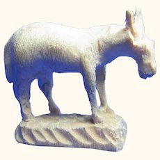 Early Vintage Italy Hand Carved ANRI Donkey Very Small