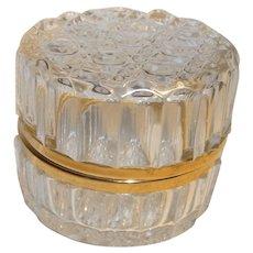 Vintage French Round Glass Casket Box