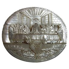 Antique Carved Mother of Pearl Last Supper