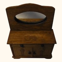 Washing Dresser Oak Wood German Dollhouse