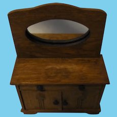 Washing Dresser Oak Wood German Dollhouse