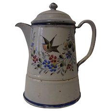 Coffee Tea Pot Graniteware Enamelware German