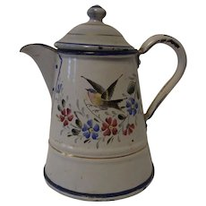 Small Coffee Tea Pot Graniteware Enamelware German