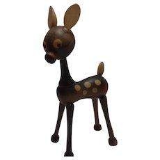 Nice Vintage Wood Deer