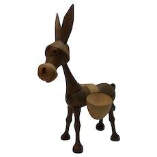 Nice Vintage Wood Donkey