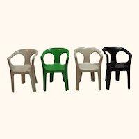 4 Dollhouse Plastic Chair Henry Massonnet Nurieux France
