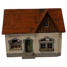Vintage German Erzgebirge Wood Toy House Bakery