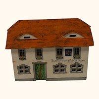 Vintage German Erzgebirge Wood Toy House Golden Star Inn