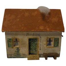 Vintage German Erzgebirge Wood Toy House Hunter Lodge
