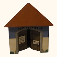 Vintage German Erzgebirge Wood Toy House Fire Fighting House