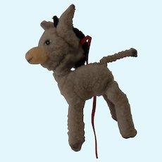 Vintage ARA Austria Wool Plush Donkey