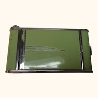 German Art Deco Cigarette Box with Makeup Case