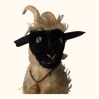 Vintage German Steiff Sheep or Ram no ID