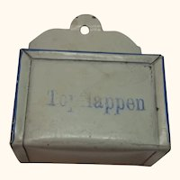 German Dollhouse Tin Wall Holder Topflappen